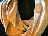 Sew a  Glam  Metallic Knit Infinity or Circle Scarf in Under an Hour, Easy Directions with Pictures