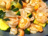 Spicy Shrimp and Zucchini Dinner for Two in 6 Minutes