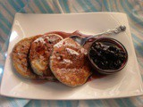 Beautilicious Blueberry Souffle Pancakes with Blueberry Compote