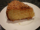 Coconut and Lime Syrup Cake