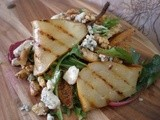 Grilled Pear, Walnut and Blue Cheese Salad with Truffled Honey Dressing