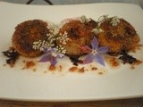 Hazelnut Sea Scallops with Vinegarette Dressing