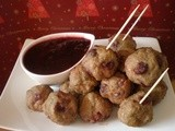 Turkey and Cranberry Meatballs with Cranberry Port Sauce