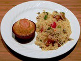 Bell Pepper Mushroom Orzo with Sausage Links