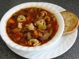 Black Bean Tortellini Soup