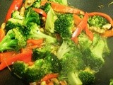 Broccoli and Peppers with Walnuts