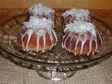 Coconut Glazed Baby Bundt Cakes