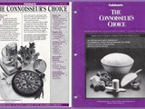 Cookbook Reviews...The Connoisseur's Choice Newsletters