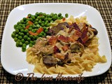 Creamy Liver and Noodles