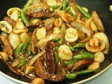 Family Favorites...Beef with Mushrooms and Pea Pods