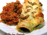 Family Favorites...Spinach and Mushroom Enchiladas