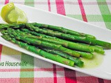From the Garden...Asparagus with Lemon Butter