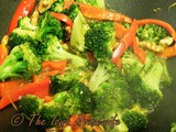 From the Garden...Broccoli and Peppers with Walnuts