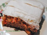 From The Garden...Carrot Sheet Cake