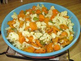 From the Garden...Cauliflower with Carrots