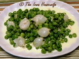 From the Garden...Green Peas and Pearl Onions