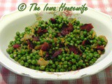 From the Garden...Green Peas with Bacon