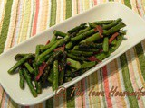 From the garden...Sautéed Asparagus With Bacon