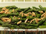 From the Garden...Steamed Asparagus With Brown Butter and Hazelnuts