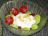 Grapes with Sour Cream and Brown Sugar