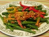 Green Beans in Yellow Pepper Butter