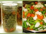 Home Canned Soup Vegetables