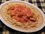 Linguine with Mushroom Shrimp Sauce