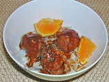 Orange Hoisin Chicken Meatballs