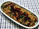 Rice Pilaf with Spinach and Caramelized Onions