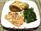 Salmon with Sour Cream Mustard Sauce and Almonds