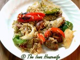 Sausage with Peppers, Onions, and Rice