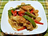 Small Recipes...Ginger Chicken with Linguine