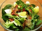 Spinach Salad with Cider Dressing
