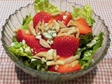 Strawberry Almond Salad with Balsamic Vinaigrette