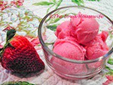 Strawberry Buttermilk Sherbert