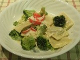Tortellini or Ravioli in Cream Sauce