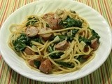 Vermicelli with Sausage and Spinach