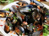 Bourbon and Bacon Steamed pei Mussels Recipe
