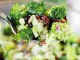 Broccoli Salad with Bacon & Dried Cranberries