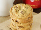 Coffee Chocolate Chip Cookies ~ put a tasty twist on the original with instant coffee