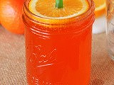 Easy Orange Slice Pumpkin Toppers for Mason Jar Halloween Drinks