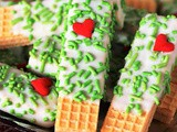 Grinch White Chocolate Sugar Wafers