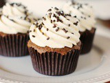 Light & Fluffy Chocolate Cupcakes with the best Vanilla Frosting