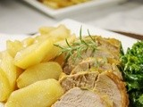 Maple-Fried Apples & Maple-Mustard Pork Tenderloin