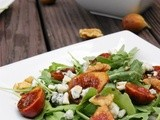 Marinated Fig and Arugula Salad with Blue Cheese & Walnuts