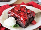 Mom's Chocolate Cherry Upside-Down Cake