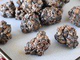 No-Bake Lumps of Coal {aka: Oreo Cocoa Krispie Treats Coal}