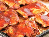 Oven Barbecue Chicken Thighs