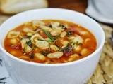 Pasta e Fagioli with Rosemary Olive Oil Drizzle {Pasta & White Bean Soup}