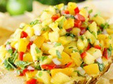 Peach-Pineapple Salsa {For Cinco de Mayo Fun!}
